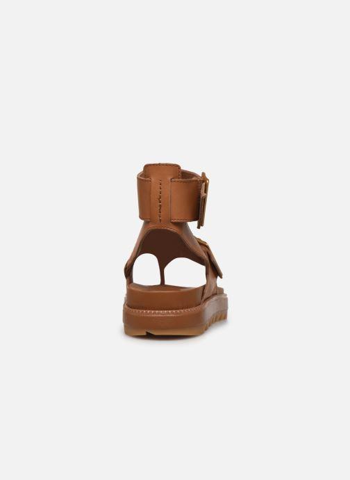 Sandales et nu-pieds Sorel Roaming T-Strap Marron vue droite