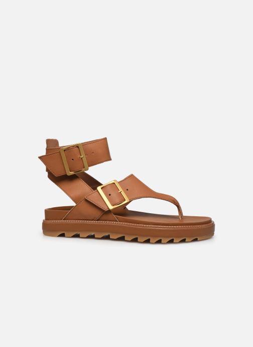 Sandales et nu-pieds Sorel Roaming T-Strap Marron vue derrière
