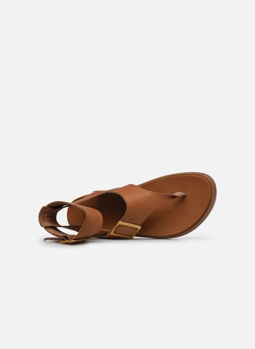 Sandales et nu-pieds Sorel Roaming T-Strap Marron vue gauche
