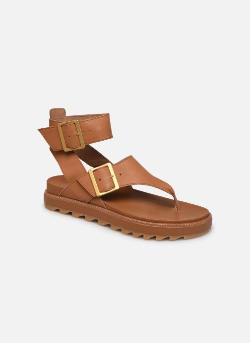 Sandales et nu-pieds Sorel Roaming T-Strap Marron vue détail/paire