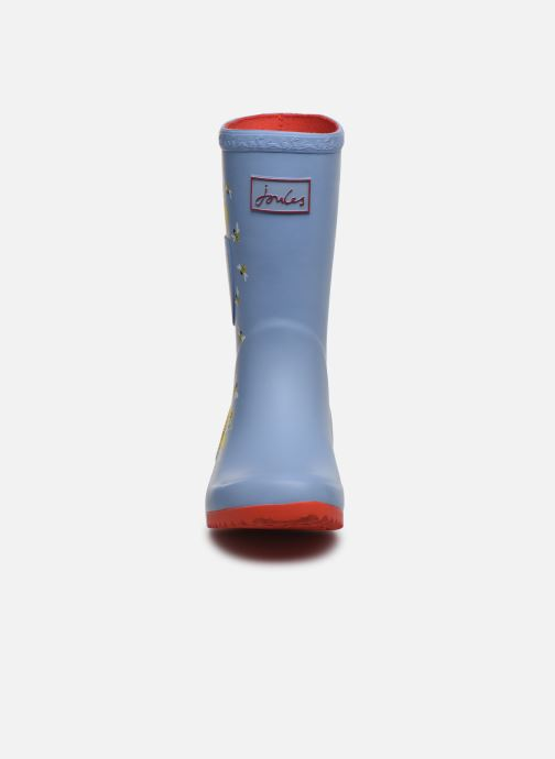 Bottes Tom Joule Girls Roll Up Welly Gris vue portées chaussures