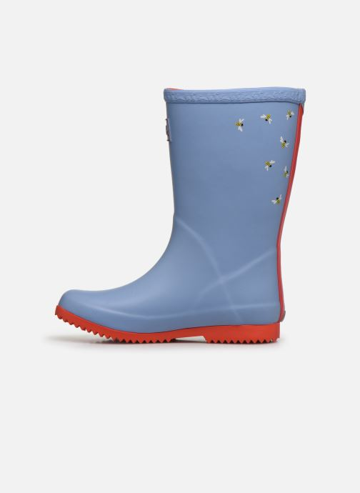 Bottes Tom Joule Girls Roll Up Welly Gris vue face