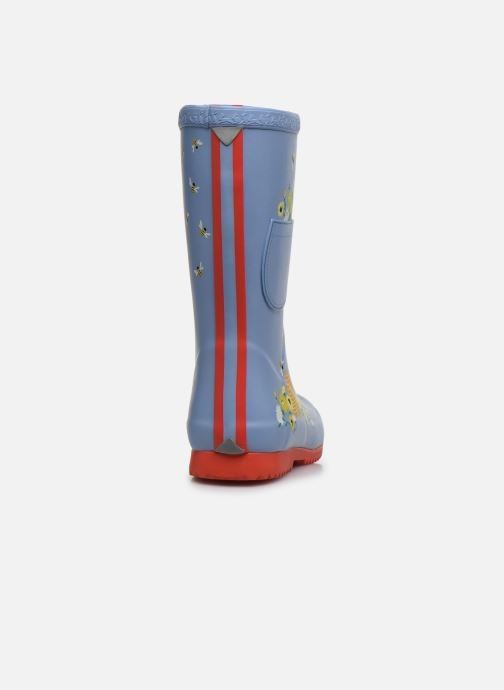 Bottes Tom Joule Girls Roll Up Welly Gris vue droite