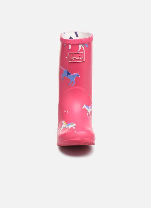 Stiefel Tom Joule Girls Roll Up Welly rosa schuhe getragen
