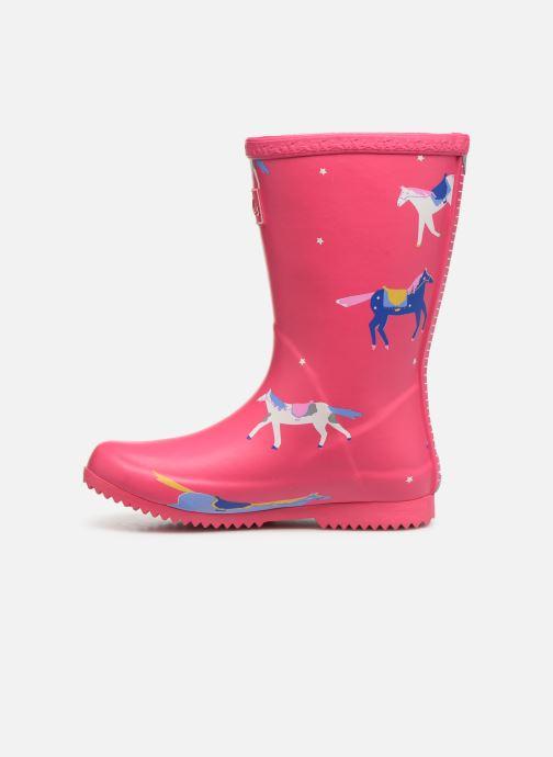 Stiefel Tom Joule Girls Roll Up Welly rosa ansicht von vorne