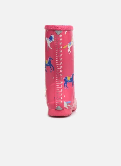 Stiefel Tom Joule Girls Roll Up Welly rosa ansicht von rechts