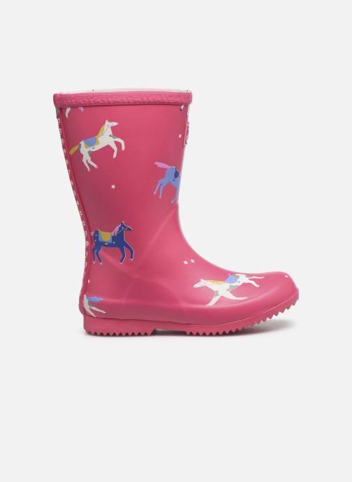 Stiefel Tom Joule Girls Roll Up Welly rosa ansicht von hinten