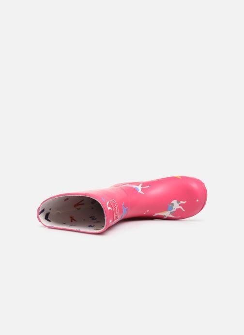 Stiefel Tom Joule Girls Roll Up Welly rosa ansicht von links