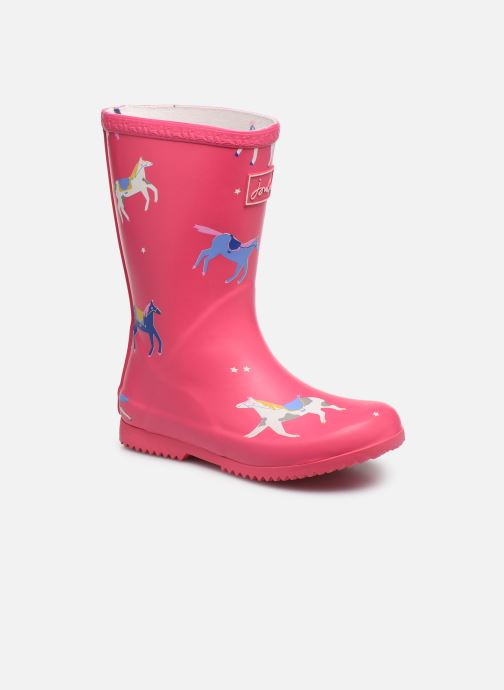 Stiefel Tom Joule Girls Roll Up Welly rosa detaillierte ansicht/modell