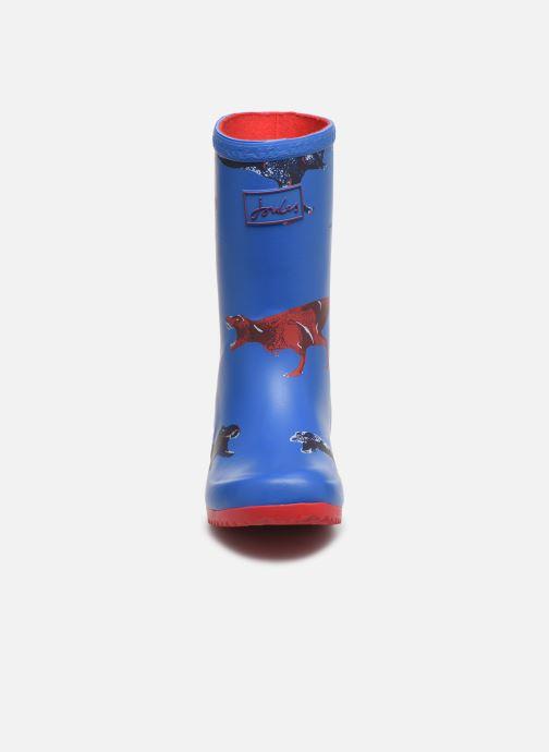Stiefel Tom Joule Boys Roll Up Welly blau schuhe getragen