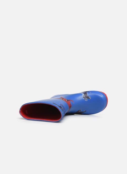 Stiefel Tom Joule Boys Roll Up Welly blau ansicht von links
