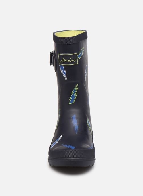 Bottes Tom Joule Boys Roll Up Welly Bleu vue portées chaussures