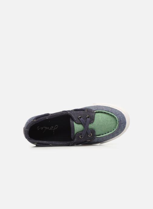 Zapatos con cordones Tom Joule Falmouth Azul vista lateral izquierda