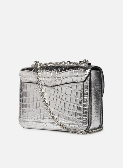 Handtaschen Rebecca Minkoff Love Too Crossbody silber ansicht von rechts