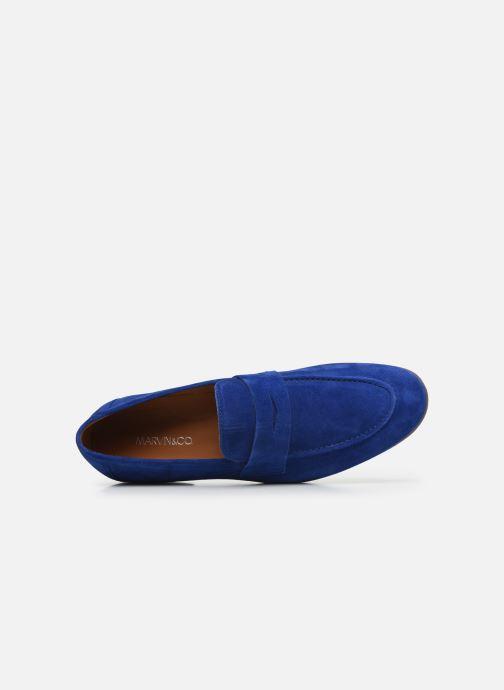 Mocassins Marvin&Co Newmoc Bleu vue gauche
