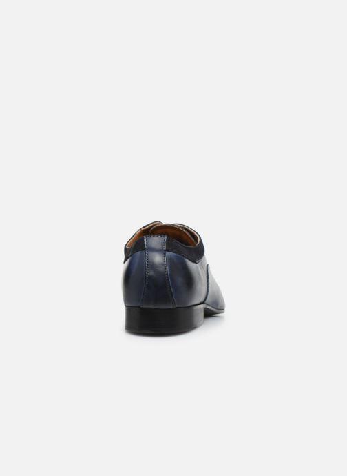 Zapatos con cordones Marvin&Co Nyrio Azul vista lateral derecha
