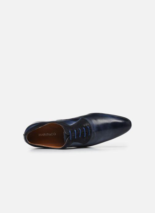 Zapatos con cordones Marvin&Co Nyrio Azul vista lateral izquierda