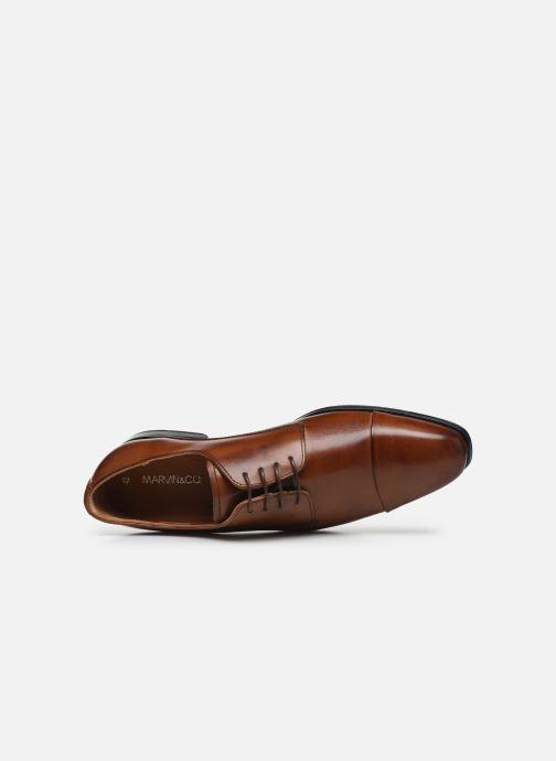 Zapatos con cordones Marvin&Co Nonty Marrón vista lateral izquierda