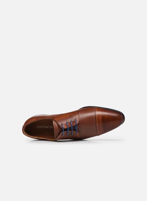 Schnürschuhe Marvin&Co Nueva braun ansicht von links