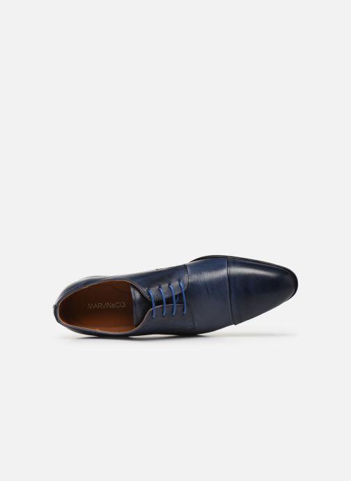 Zapatos con cordones Marvin&Co Nueva Azul vista lateral izquierda
