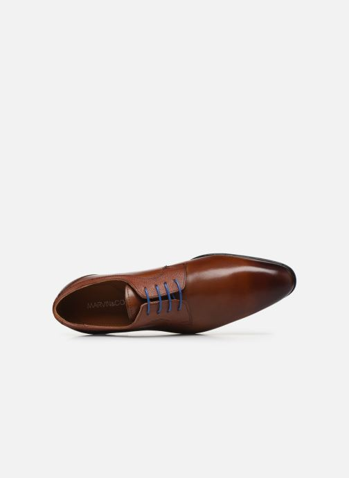 Zapatos con cordones Marvin&Co Nevery Marrón vista lateral izquierda