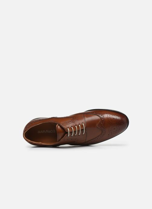 Lace-up shoes Marvin&co Nucho Brown view from the left