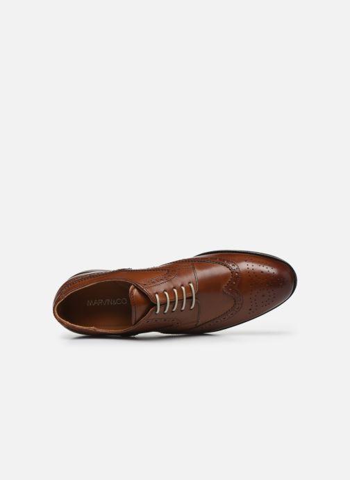 Chaussures à lacets Marvin&Co Nucho Marron vue gauche