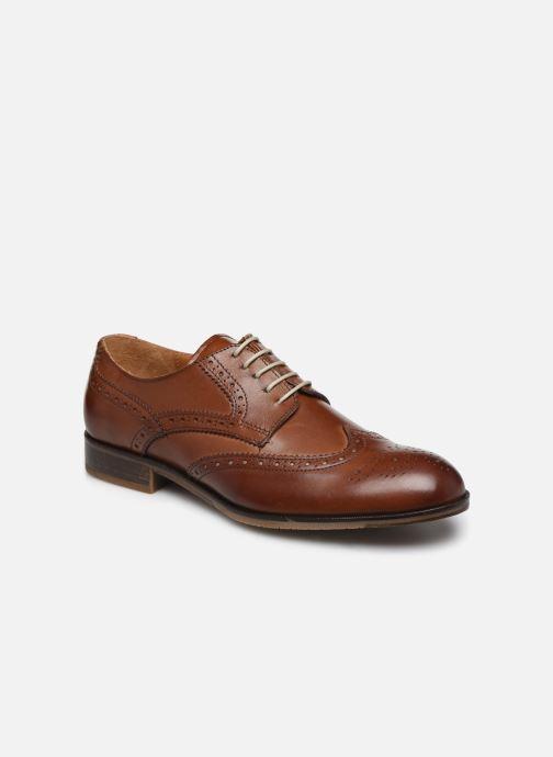 Snøresko Marvin&Co Nucho Brun detaljeret billede af skoene