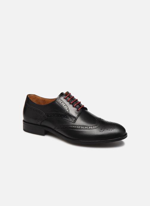Snøresko Marvin&Co Nucho Sort detaljeret billede af skoene
