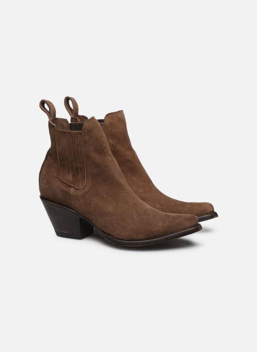 Bottines et boots Mexicana Gaucho Long Stitch Marron vue 3/4
