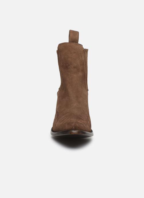 Bottines et boots Mexicana Gaucho Long Stitch Marron vue portées chaussures
