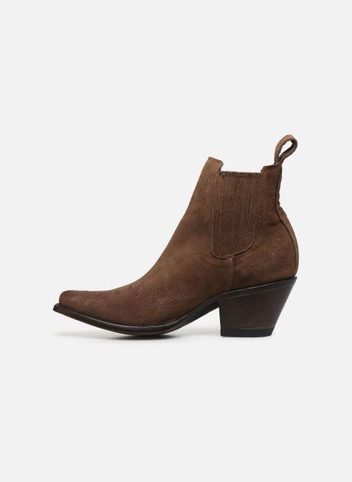 Boots en enkellaarsjes Mexicana Gaucho Long Stitch Bruin voorkant