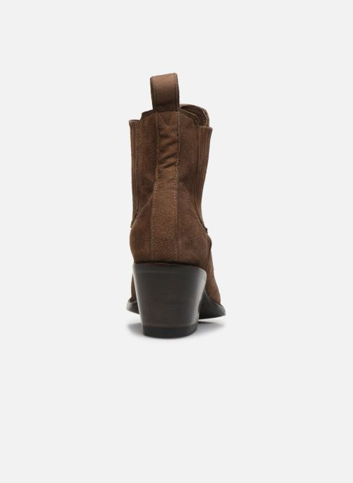 Boots en enkellaarsjes Mexicana Gaucho Long Stitch Bruin rechts