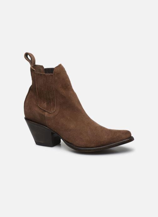 Bottines et boots Mexicana Gaucho Long Stitch Marron vue détail/paire