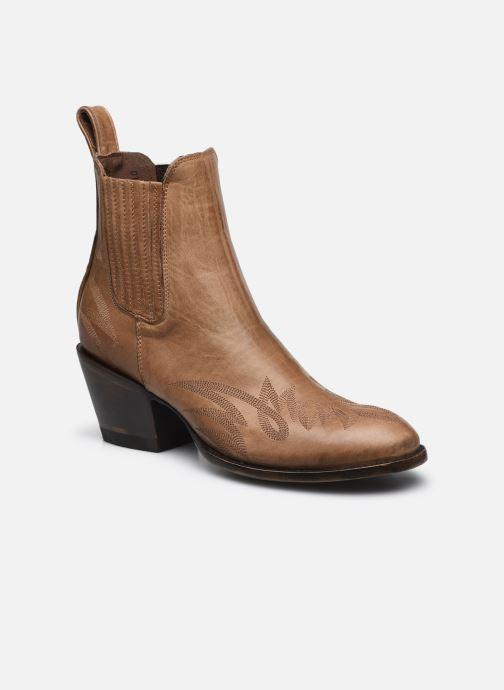 Bottines et boots Mexicana Gaucho Long Stitch Beige vue détail/paire