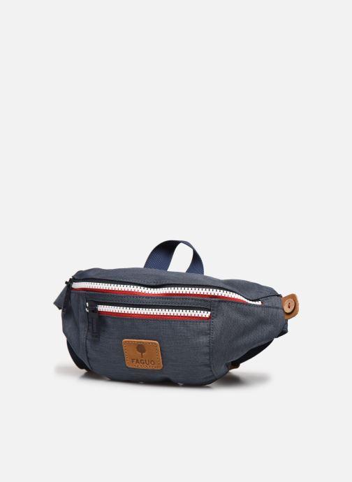 Ropa Faguo Hipbag Polyester Azul vista del modelo