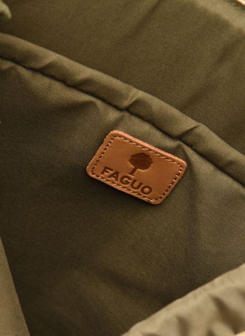 Rugzakken Faguo Adventurebag Cotton Beige achterkant