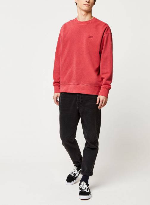 Vêtements Levi's Authentic Logo Crewneck Rouge vue bas / vue portée sac