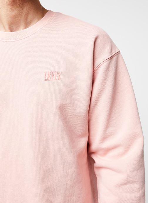 Vêtements Levi's Authentic Logo Crewneck Rose vue face