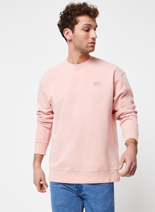 Vêtements Levi's Authentic Logo Crewneck Rose vue droite