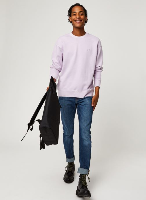 Vêtements Levi's Authentic Logo Crewneck Rose vue bas / vue portée sac