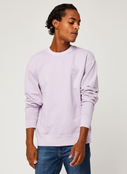 Vêtements Levi's Authentic Logo Crewneck Rose vue détail/paire
