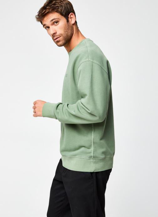 Vêtements Levi's Authentic Logo Crewneck Vert vue droite