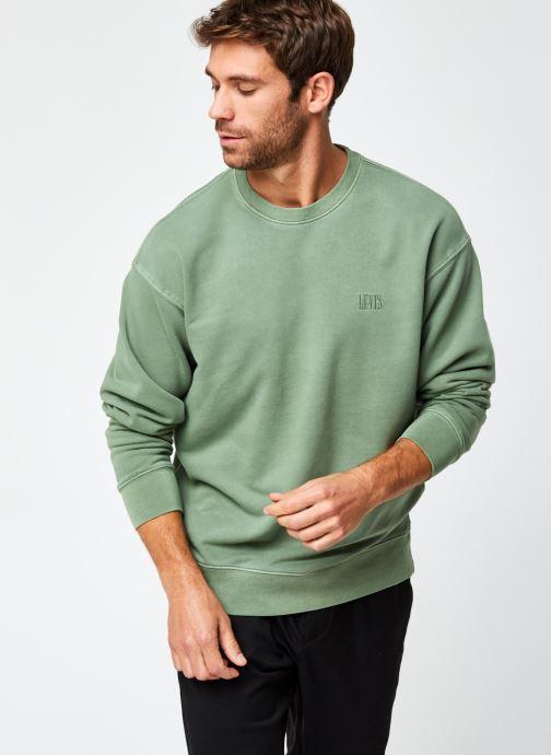 Vêtements Levi's Authentic Logo Crewneck Vert vue détail/paire