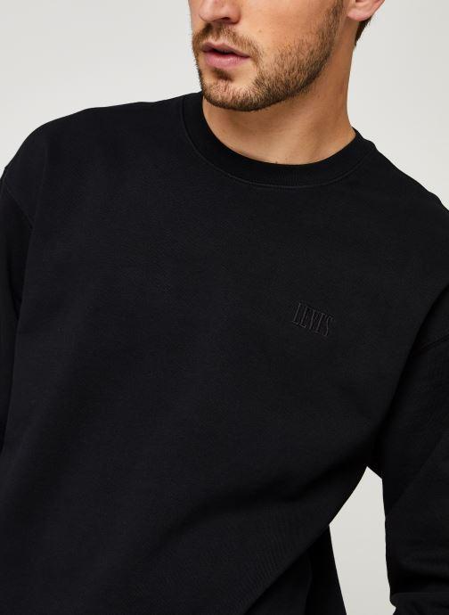 Vêtements Levi's Authentic Logo Crewneck Noir vue face