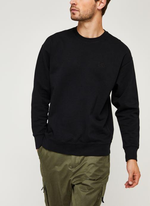 Vêtements Levi's Authentic Logo Crewneck Noir vue droite