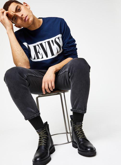 Vêtements Levi's Logo Colorblock Crew Bleu vue bas / vue portée sac