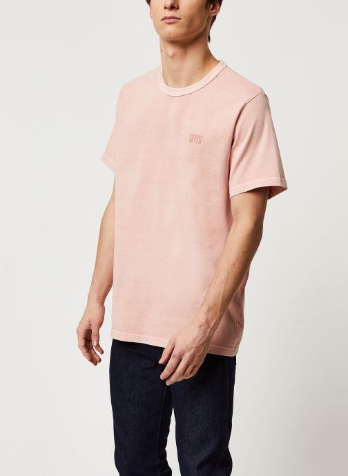 Vêtements Levi's Authentic Crewneck Tee Rose vue droite