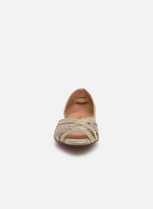 Ballerines Georgia Rose Cimina Or et bronze vue portées chaussures