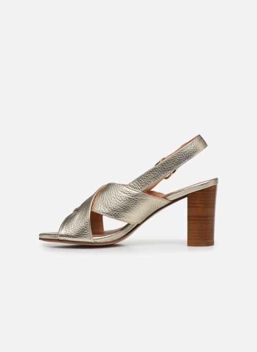 Sandales et nu-pieds Georgia Rose Courti Or et bronze vue face